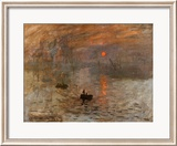Impression, Rising Sun Posters by Claude Monet