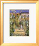 Garden at Vetreuil Affiches par Claude Monet