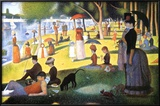 Tarde de domingo en la isla de la Grande Jatte Lámina por Georges Seurat