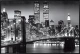 New York Manhattan Black - Berenholtz Poster