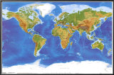 Satellite Physical Map of The World Photo