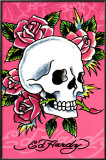 Ed Hardy - Pink Skull &amp; Roses Photo by Ed Hardy
