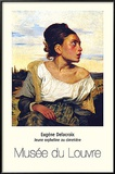 Young Orphan in the Cemetery Poster by Eugene Delacroix