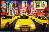 Times Square - Yellow Cabs Photo