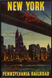 New York by Pennsylvania Railroad Prints