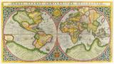 Orbis Terrae Compendiosa Descriptio, 1587 Premium Giclee Print by Rumold Mercator