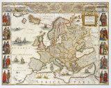 Europa, 1617 Premium Giclee Print by Willem Janszoon Blaeu