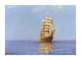 Evening Gold - The &#39;Antiope&#39; Premium Giclee Print by Montague Dawson