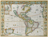 America, 1626 Premium Giclee Print by John Speed