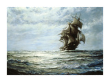 Running on the North Atlantic Premium Giclee Print by Montague Dawson