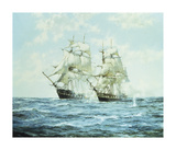 The 'President' and the 'Little Bell' Premium Giclee Print by Montague Dawson