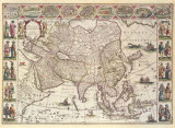 Asia, 1618 Premium Giclee Print by Willem Janszoon Blaeu