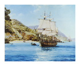 Pirates Cove Premium Giclee Print by Montague Dawson