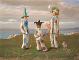 Holiday Clowns Premium Giclee Print by Claude Harrison