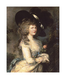 Portrait of Georgiana, Duchess of Devonshire Premium Giclee Print by Thomas Gainsborough