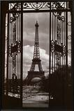 Eiffel Tower Through Gates Posters by Alexandre-Gustave Eiffel
