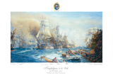 Battle of Trafalgar at 2.30pm Lámina giclée de primera calidad por William Lionel Wyllie
