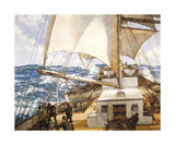 Gale Force Eight Premium Giclee Print by Montague Dawson