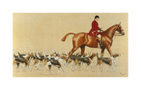 The New School Premium Giclee Print by Cecil Aldin