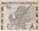 Nova Europae Descriptio, 1680 Premium Giclee Print by Frederik De Wit