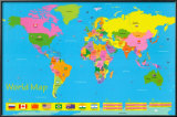 World Map - Children's Posters