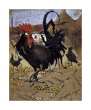 The Black Spanish Cock Premium Giclee Print by Joseph Crawhall