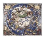 Haemisphaeri Graphicum Coelitietum Sceno Australae Stella Terrae, 1660 Premium Giclee Print by Hendrik Hondius