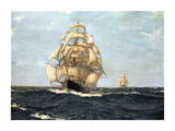 The Pride Of The Ocean - &#39;Cutty Sark&#39; Premium Giclee Print by Montague Dawson
