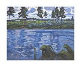 Blue Water Premium Giclee Print by Valeriy Chuikov