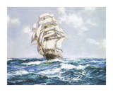 The Blue Seas - The 'Eliza Bars's' Premium Giclee Print by Montague Dawson