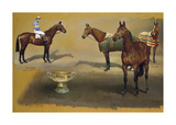 Triple Winners of the Cheltenham Gold Cup Premium Giclee Print by Susan Crawford