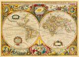 Nova Totius Terrarum Orbis Geographica ac Hydrographica Tabula, c1690 Premium Giclee Print by Hendrick Doncker