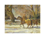 The Painter's Groom Premium Giclee Print by Sir Alfred Munnings