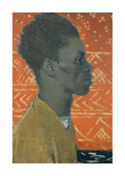 Negro In Profile : Portrait Of Henry Thomas Premium Giclee Print by Glyn Warren Philpot