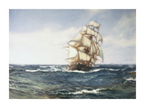 A Clipper Ship Premium Giclee Print by Montague Dawson