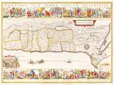 Palestina Sive Terrae Sanctae Descriptio, 1630 Premium Giclee Print by Jan Jansson