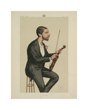First Violin Premium Giclee Print by  Apey