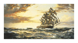 Squally Weather Premium Giclee Print by Montague Dawson