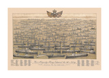 His Majesty King Edward VII's Navy - 'On Which The Sun Never Sets' Premium Giclee Print by R. Abrahams