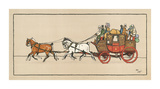 Stagecoach II Premium Giclee Print by Cecil Aldin