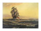 Sails of Evening Premium Giclee Print by Montague Dawson