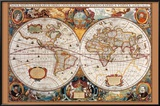 17th Century World Map Photo