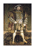 Henry VIII Premium Giclee Print by Hans Holbein