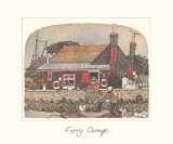 Ferry Cottage Premium Giclee Print by Chad Coleman