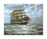 The Silver Moon Premium Giclee Print by Montague Dawson