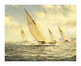 Glittering Waves Premium Giclee Print by Montague Dawson