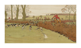 The Cottesbrook Hunt (Nearing the End) Premium Giclee Print by Cecil Aldin