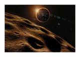 Asteroid Eclipse Premium Giclee Print by David A Hardy