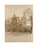 Norwich Cathedral Premium Giclee Print by Cecil Aldin