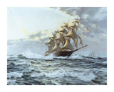 The 'Lightning' Premium Giclee Print by Montague Dawson